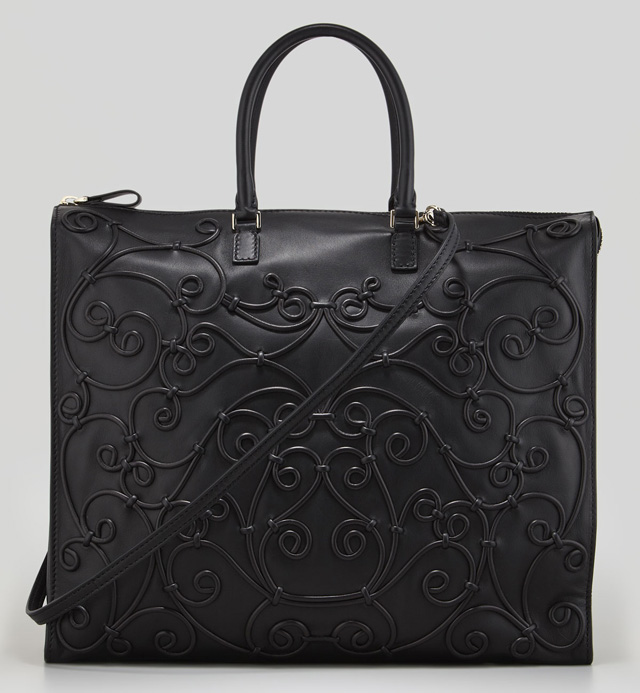 Valentino Intricate Soutache Bag Black