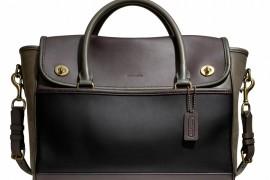 Coach Legacy Utility Flap Commuter Bag Black