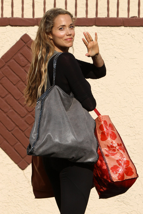 Elizabeth Berkley carries Stella McCartney in Los Angeles (3)