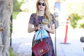 Emma Roberts carries a burgundy Pucci bag (5)