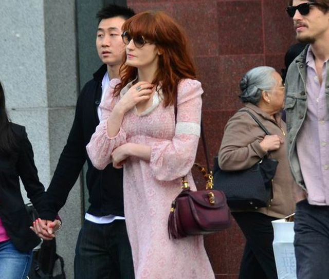 Florence Welch with a Gucci Bamboo Bag