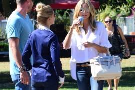 Heidi Klum carries a grey Reed Krakoff Boxer Tote (5)