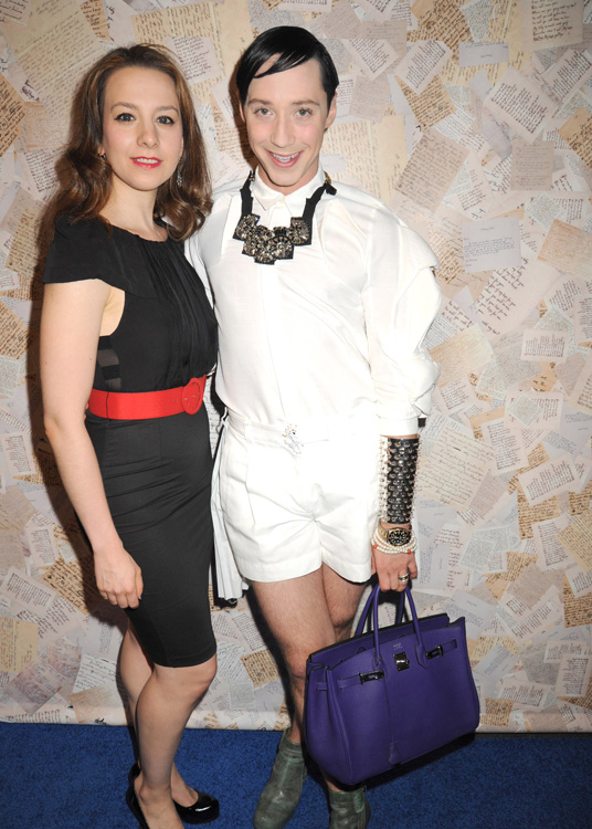 Celebrities at Alice and Olivia by Stacey Bendet Spring 2014 Presentation in NYC