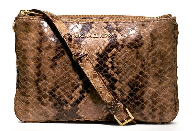 MICHAEL Michael Kors Bedford Gusset Snake-Print Crossbody Bag