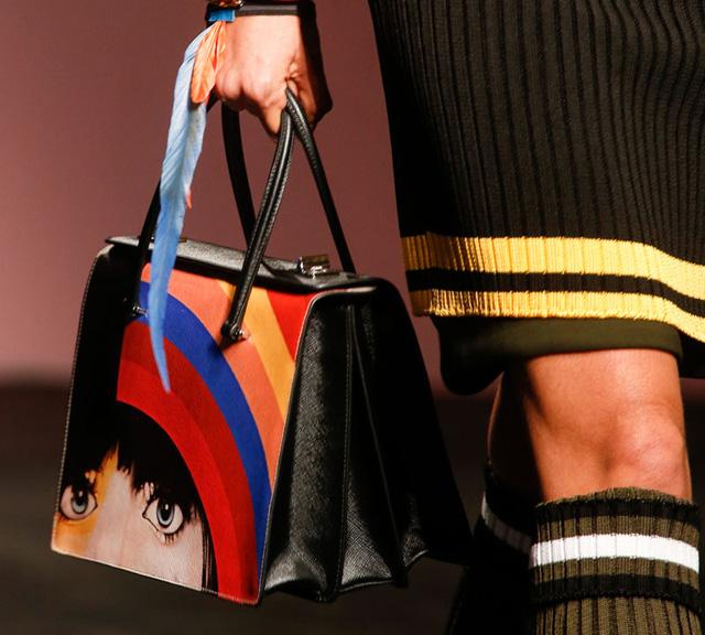 red and black prada shoes - Prada's Bags are Artistic, Feminist for Spring 2014 - PurseBlog