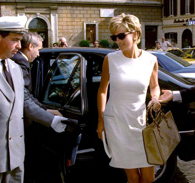 Princess Diana with a Gucci Bamboo Bag