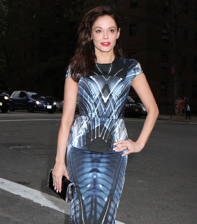 Celebrities at the Mercedes-Benz Fashion Week in NYC