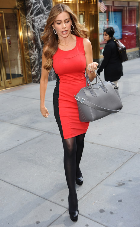Sofia Vergara carries a grey Givenchy bag in NYC (1)