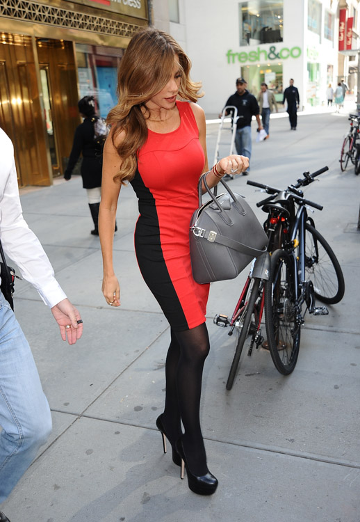 Sofia Vergara carries a grey Givenchy bag in NYC (4)