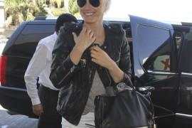 Taylor Schilling carries a black Botkier bag in LA (5)