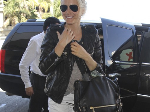Taylor Schilling carries a black Botkier bag in LA (5)