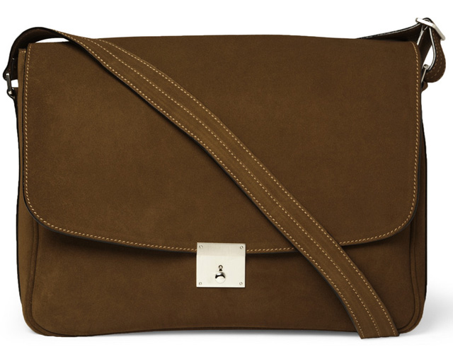 Valextra Suede Messenger Bag