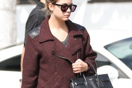 Ashley Benson carries a black Saint Laurent bag in West Hollywood (5)