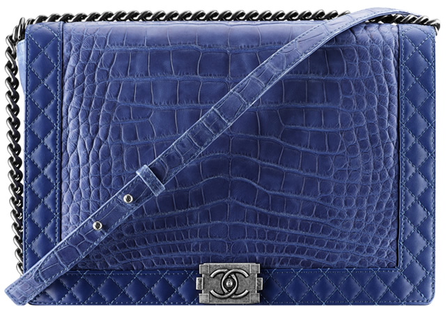 Chanel Alligator Boy Bag in Blue