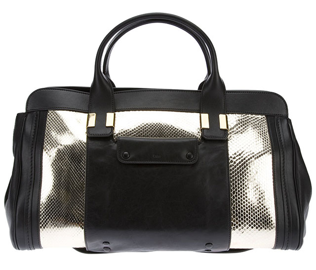 Chloe Alice Python Embossed Tote