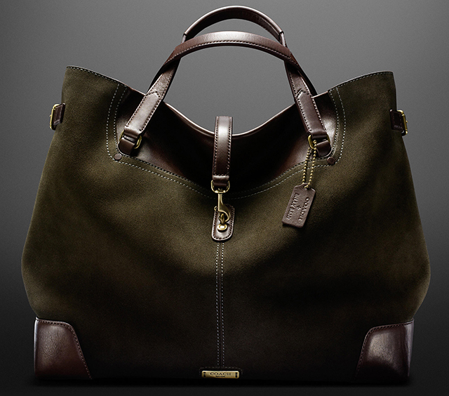 Coach + Billy Reid Suede Saddle Tote