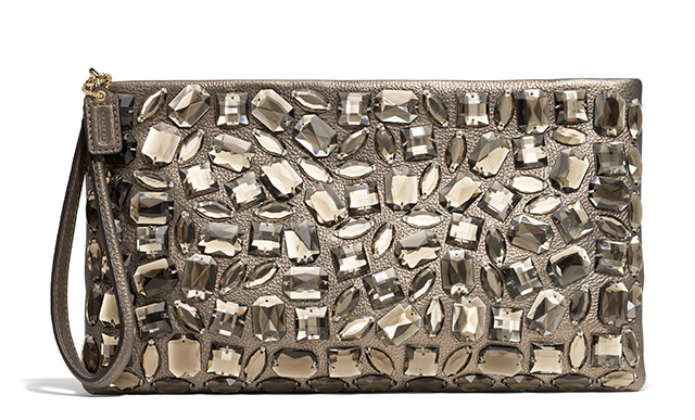 Coach Madison Jeweled Leather Clutch