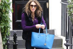 Elizabeth Hurley Goes Affordable with a Bright Michael Kors Tote