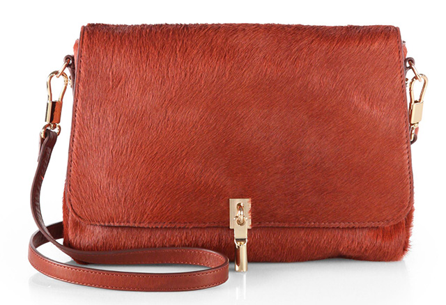 Elizabeth and James Calf Hair Mini Crossbody Bag