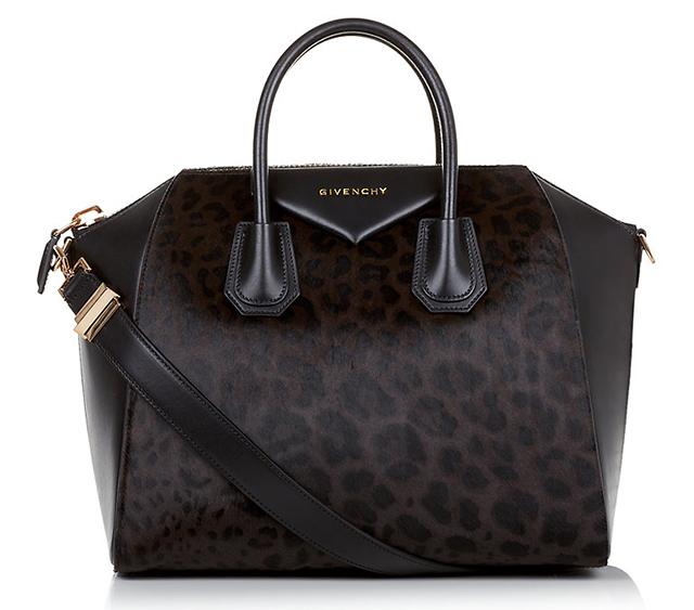 Givenchy Leopard Calf Hair Antigona Bag