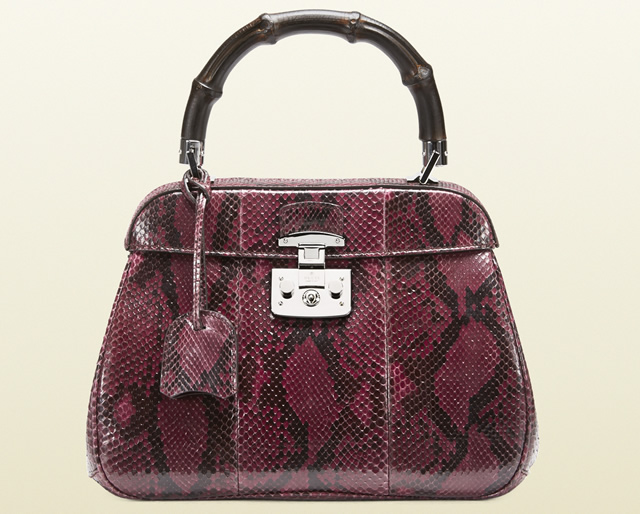 Gucci Lady Lock Python Bag