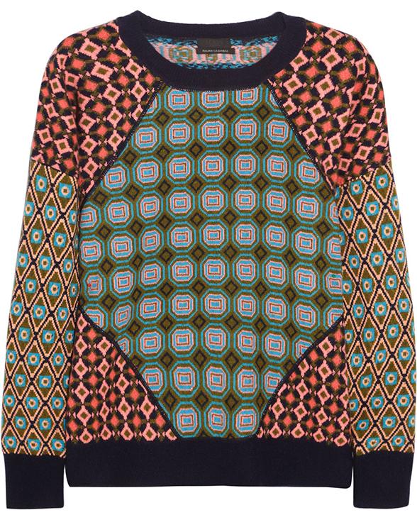 J.Crew Tile Jacquard Knit Cashmere Sweater
