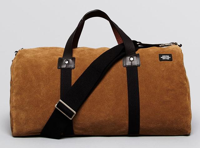 Jack Spade Desert Suede Duffel Bag