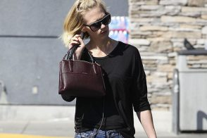 January Jones Carries a Little Version of Coach's Big New Bag