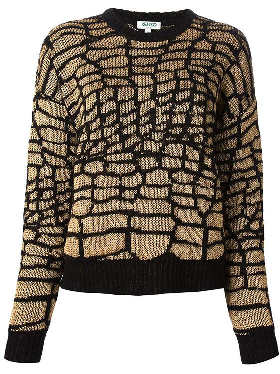 Kenzo Scaly Motif Sweater