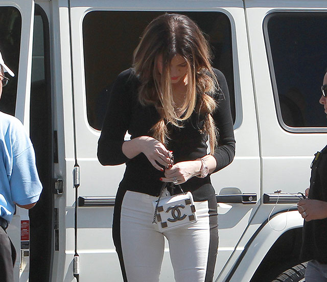 Khloe Kardashian carries a Chanel Lego Mini Flap Bag in California (5)