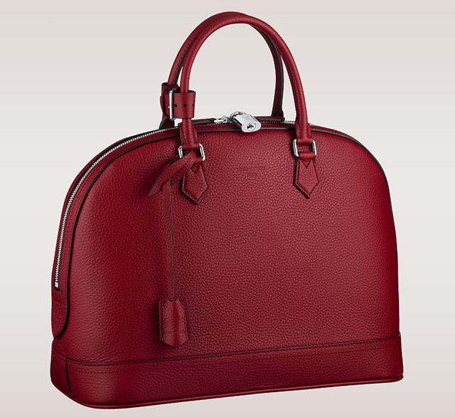 Louis Vuitton Alma MM Bag Taurillon Leather