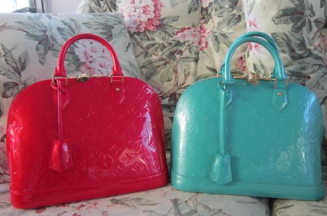 Louis Vuitton Vernis Alma Bags