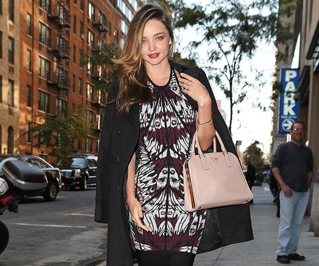 Miranda Kerry carries a pink Prada bag in NYC (5)