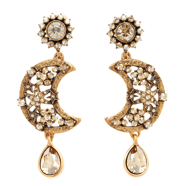 Oscar de La Renta Lunar Drop Earrings