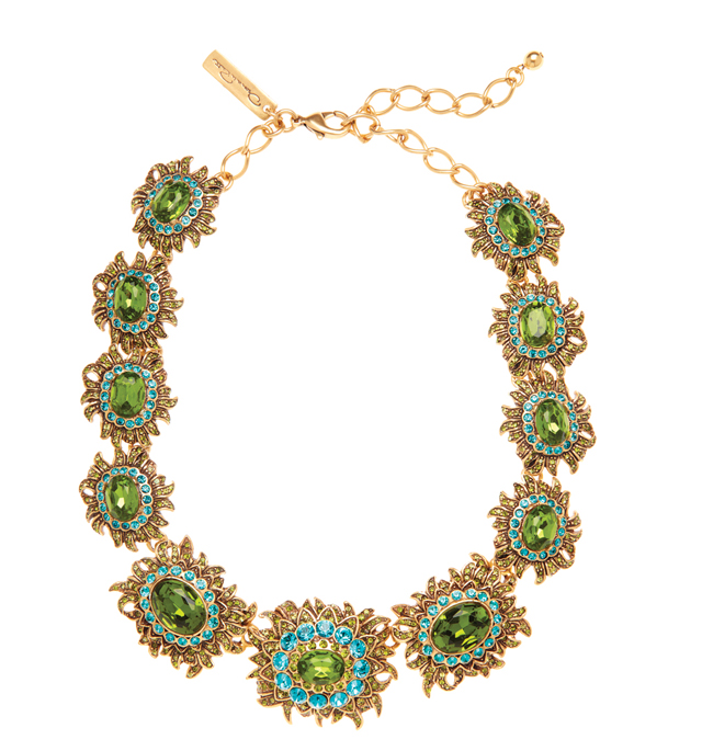 Oscar de la Renta Sunburst Multi Crystal Necklace