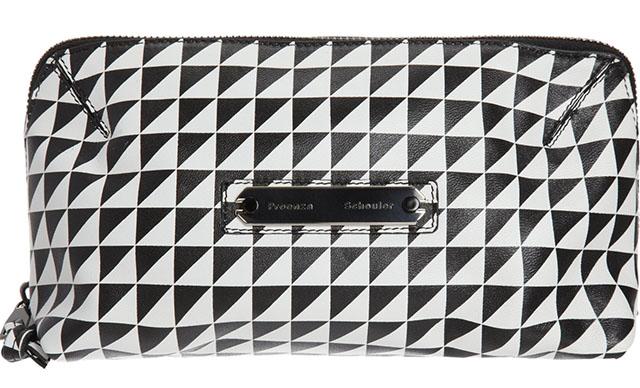 Proenza Schouler Triangle Print Large Makeup Case