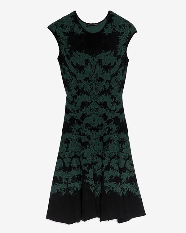 RVN Jacquard Flare Dress