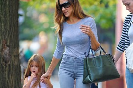 Sarah Jessica Parker carries a Coach Borough Bag in NYC (5)