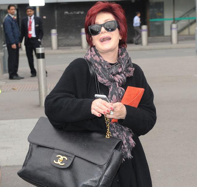 Sharon Osbourne carries a huge Chanel bag in London (5)