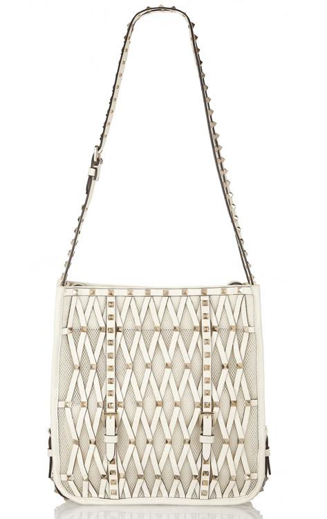 Valentino Rockstud Lattice Shoulder Bag