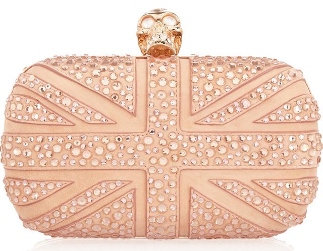 Alexander McQueen Britannia Crystal Box Clutch