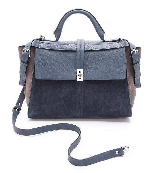 Carven Suede Crossbody Bag
