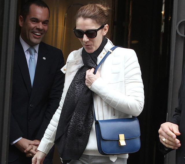 Celine Dion carries a blue Celine bag in Paris (5)