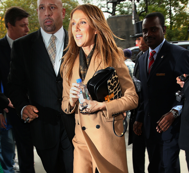 Celine Dion carries leopard Celine bag in NYC (5)