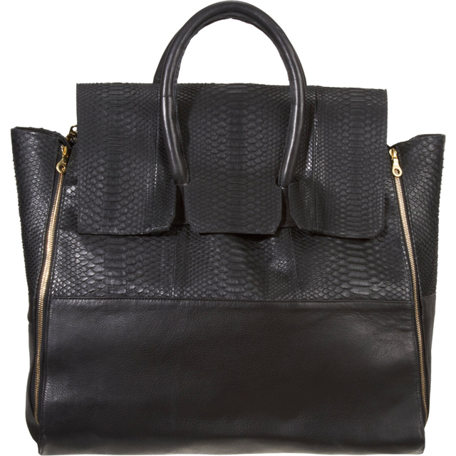 En Noir Snakeskin Travel Bag