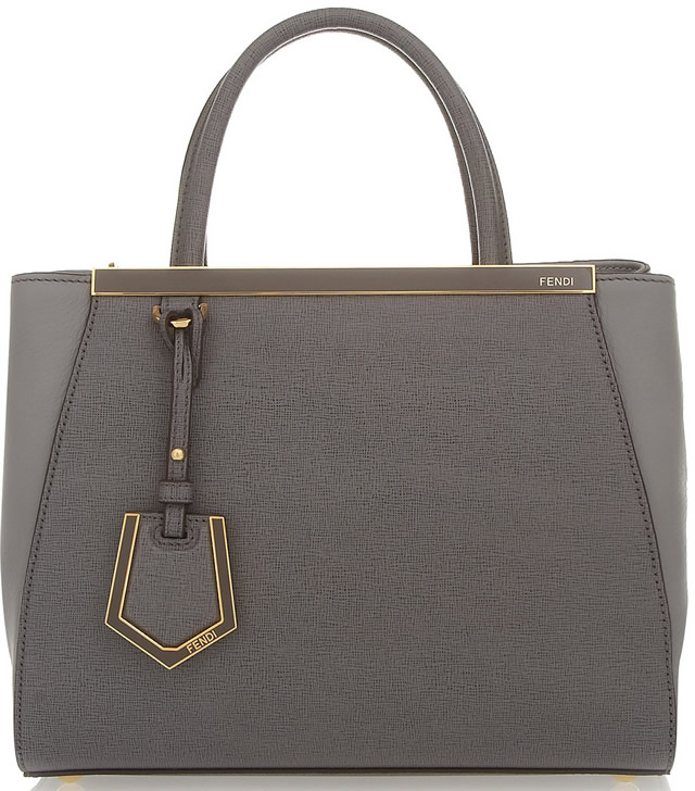 Fendi 2Jours Small Shopper Grey