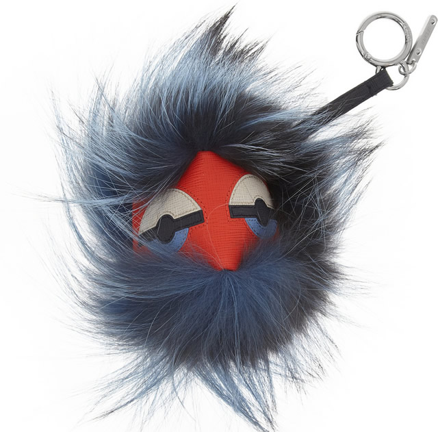 Fendi Monster Bag Charm Blue
