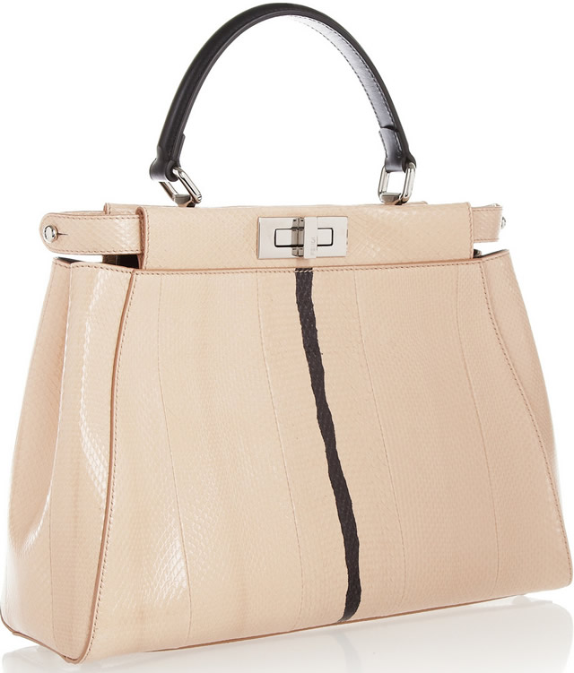 Fendi Peekaboo Watersnake Tote