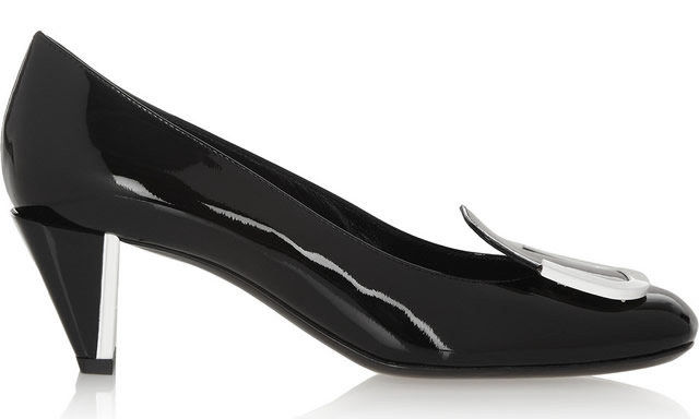 Fendi Square-toe Patent-Leather Pumps
