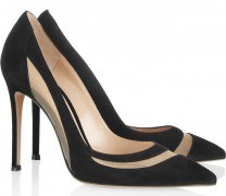Gianvito Rossi Mesh-Paneled Pumps
